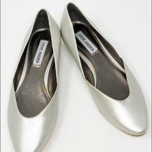 Steve Madden silver shoes